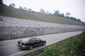 Rọ đá mạ kẽm bọc nhựa pvc bảo vệ đê